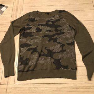 Express camo sweater